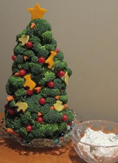 Platos con Vegetales Decorados para Navidad
