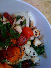 Easy fennel, sun-dried tomato and spinach salad