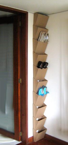 Полка для обуви из картона мастер класс