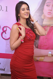 Harshika Pooncha latest Pictures in red 009.jpg