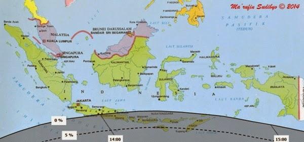 Inilah Wilayah Indonesia yang Bisa Mengamati Gerhana Matahari Sebagian 29 April 2014