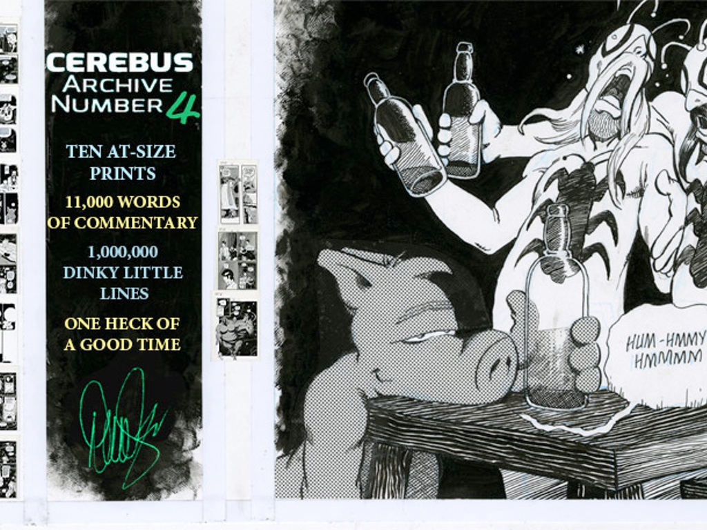 a moment of cerebus cerebus archive going forward again word essay on the creation of the pages the notes this time are something else wistful personal funny until they suddenly dive into a 1 500 word