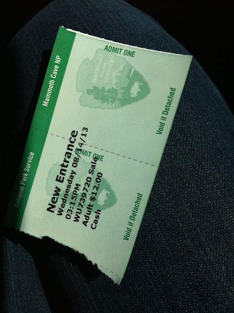 Mammoth cave entrance ticket