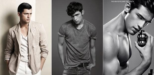 Sean O'Pry em campanhas para Zara, Pepe Jeans e Viktor & Rolf (Foto: Divulgação)