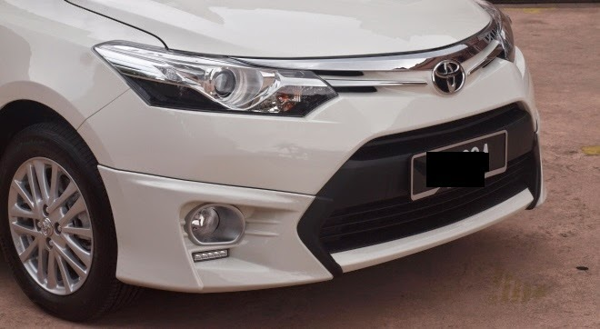AUDIO CAR ACCESSORIES: New Toyota vios Front Chrome Grill Garnish 2014