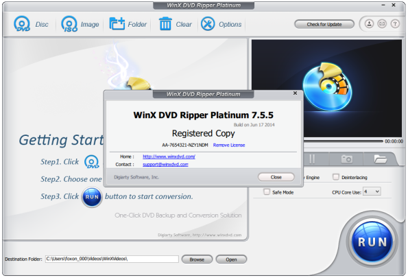 WinX DVD Ripper Platinum 7.5.5 Full With Serial Key | Free Download Full Software