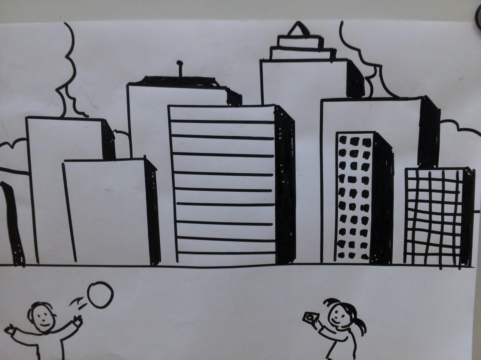 Comment dessiner une ville moderne.   Le blog de Monsieur Valancony