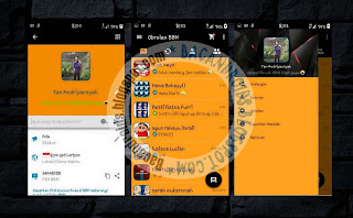 BBM Mod Tema YK Simple Orange Dark