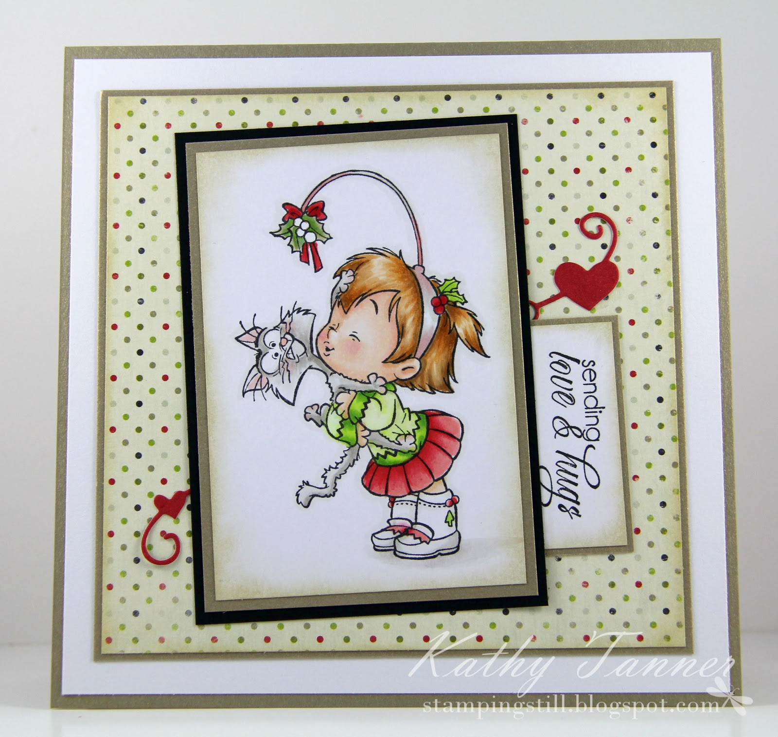 cc designs, kisses, christmas, heart border die