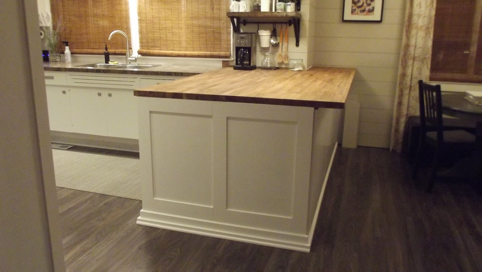 Elephant Buffet: DIY Butcher Block Kitchen Island (Before and After)