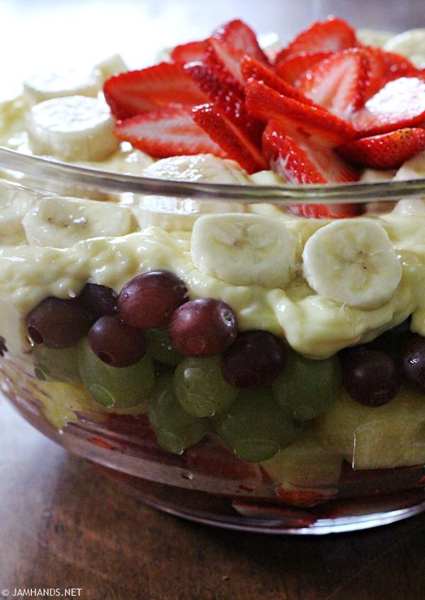 summer fruit salad fruit trifle