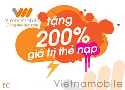 Tặng 200% thẻ nạp Vietnambile ngày 26/9 và 27/9