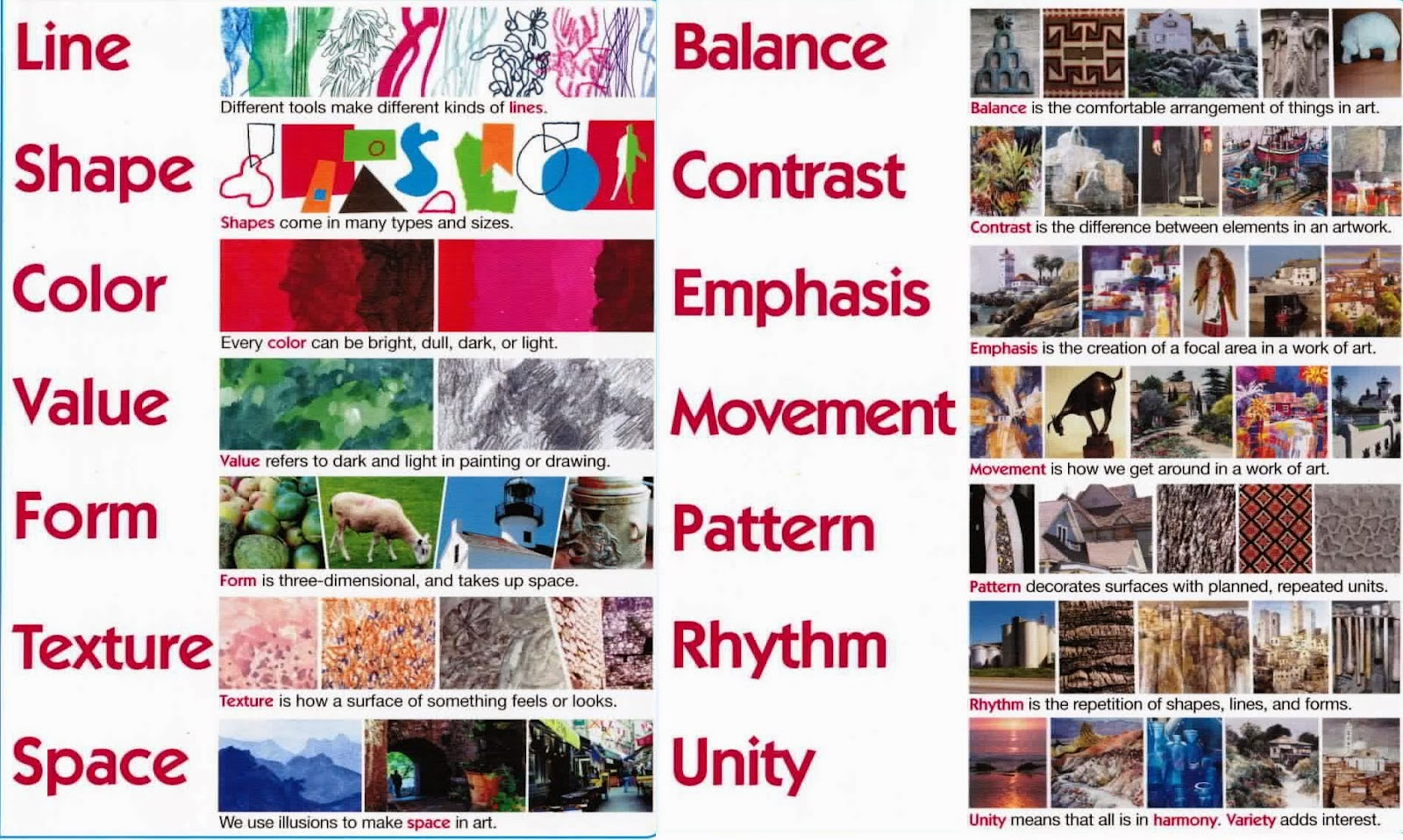 Visual Design Elements : Artimus prime th elements and principles of design unit