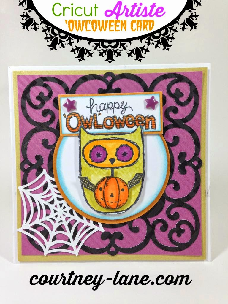 Cricut Artiste Owloween card