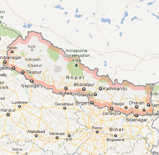 """Nepal_google_satellite_map_recent_natural_disasters_in_Nepal"""