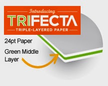 GotPrint Trifecta triple-layered paper with green middle layer