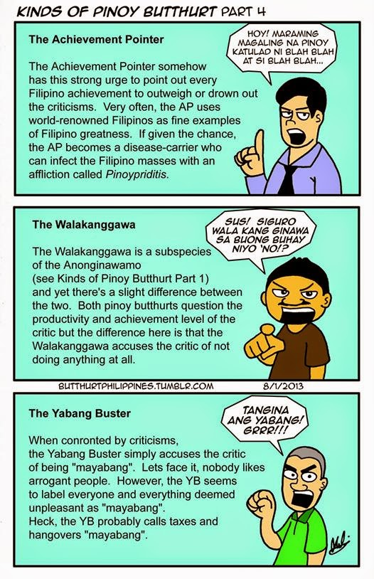 Kinds Of Pinoy Butthurt