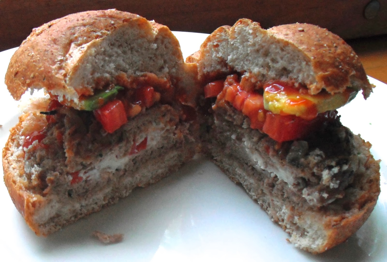 Goat Cheese Stuffed Turkey Burgers