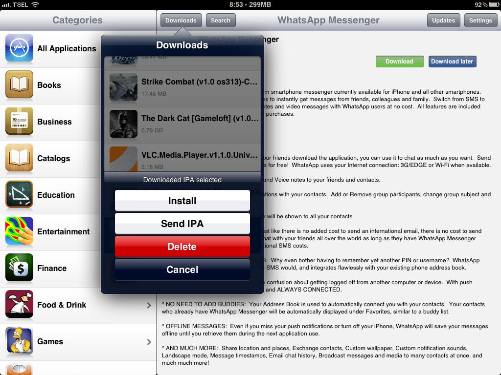 install whatsapp installous