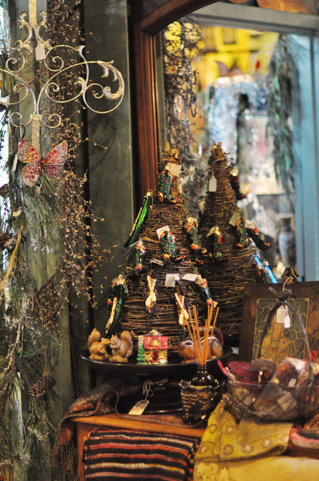 Christmas antiques and decor
