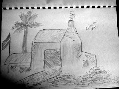 Cooks Cottage Sketch, Melbourne