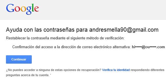 recuperando nuestra cuenta de correo Gmail
