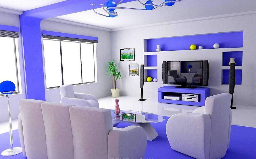 contoh cat interior rumah modern idaman