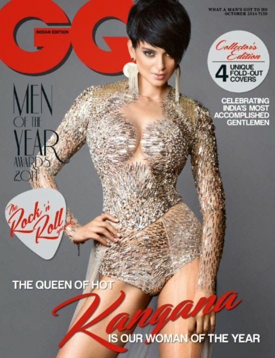 Kangana Ranaut Features on The Cover of GQ Magazine Month October 2014