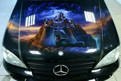 beautiful car paintings