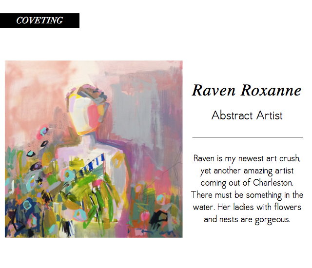 Raven Roxanne Rainbird Abstract Artist Charleston Lady With Flowers