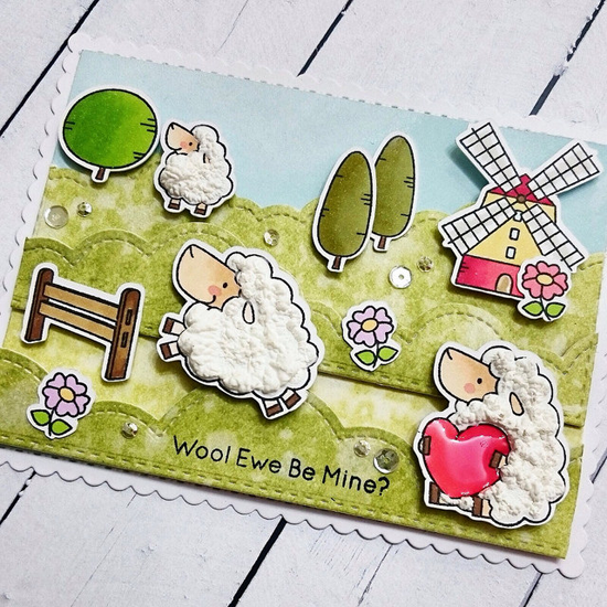 Birdie Brown Ewe Are the Best stamp set & Die-namics - Anuyami #mftstamps