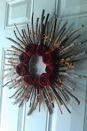 festive rosette wreath