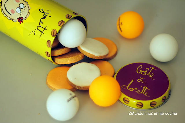Galletas de pelotas de ping pong