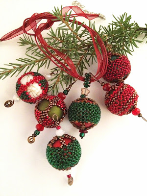 Yule Tidings Miniature Ornament Collection - kits available on Etsy