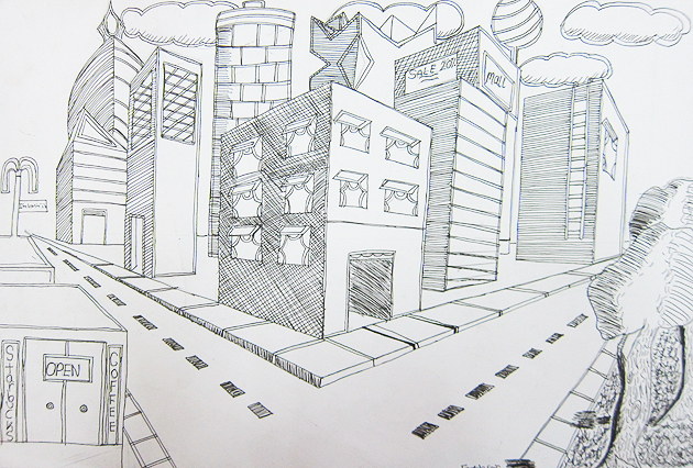 проект город рисунок