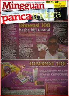 DIMENSI 108 DALAM MINGGUAN MALAYSIA  10hb.NOV. 2013