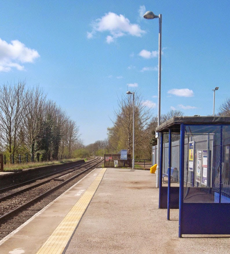 Brigg railway station in April 2014 showing recent improvements - picture on Nigel Fisher's Brigg Blog