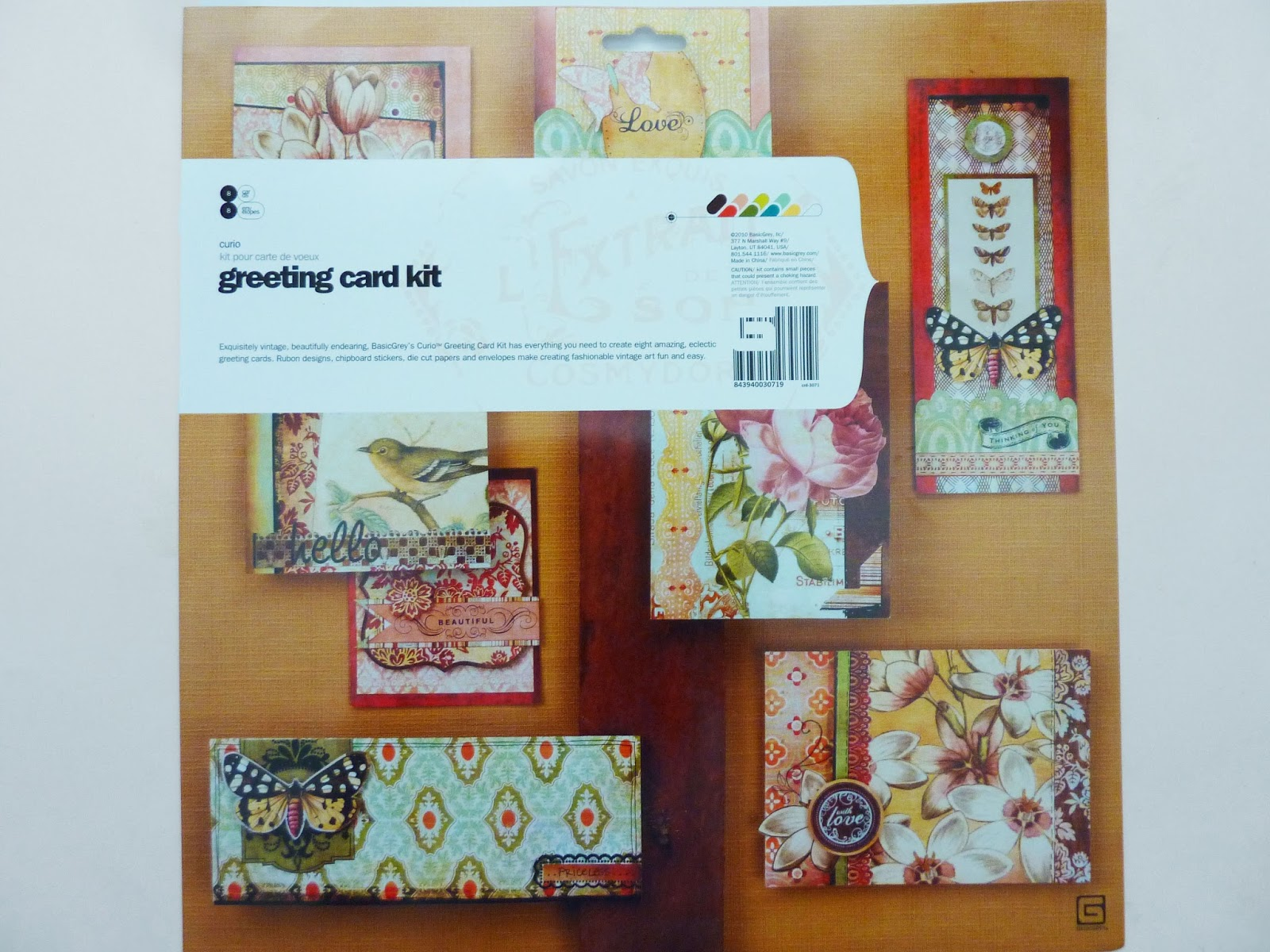 Artful play altered basic grey greeting card kit the kits gives you step by step instructions and supplies to make the cards pictured on the cover the kit makes 8 different cards and includes envelopes m4hsunfo