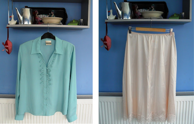 1980's blouse and petticoat
