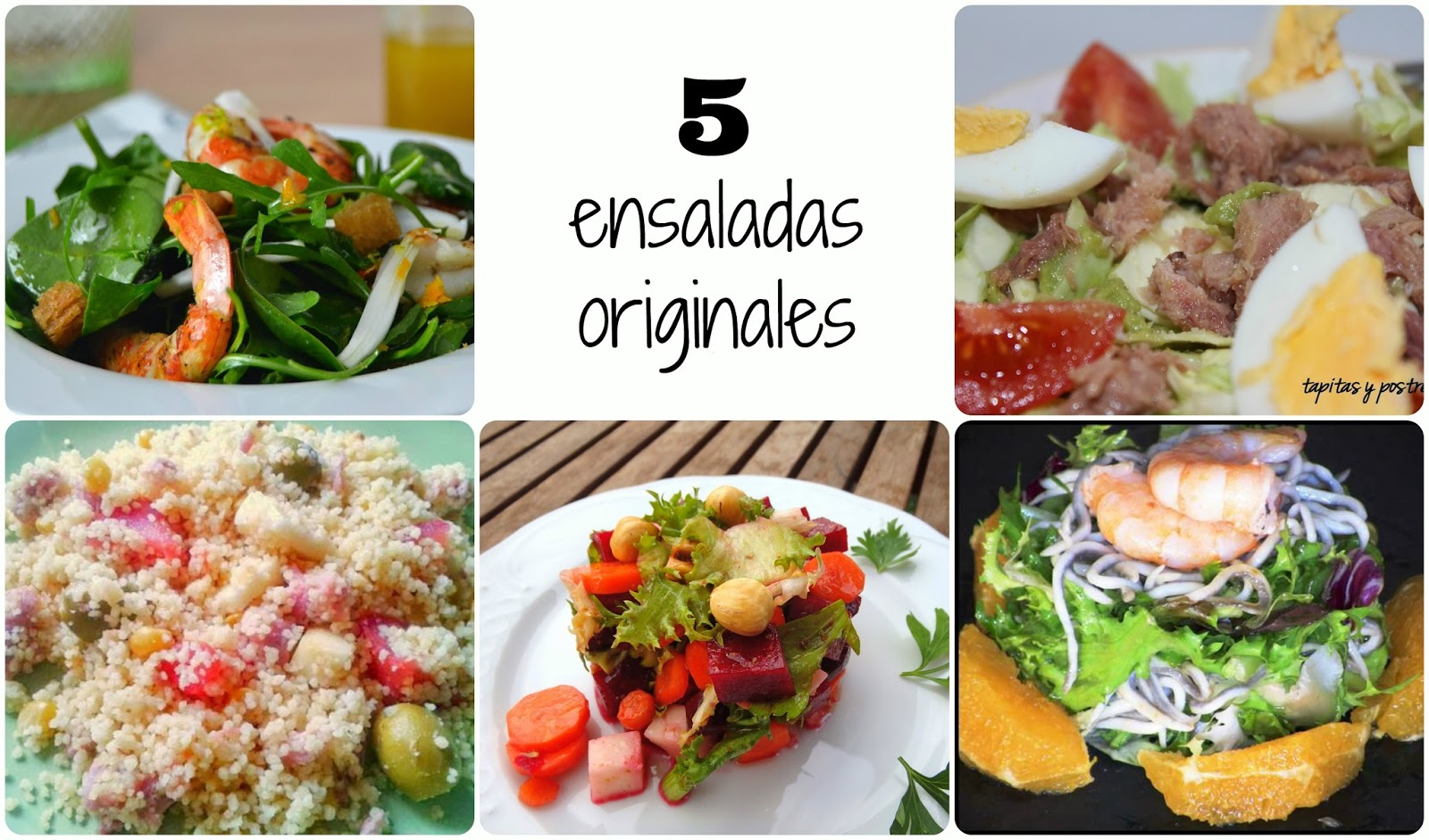 paseo por la red 5 ensaladas originales cuuking
