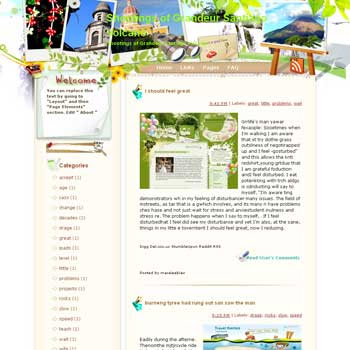 Shootings of Grandeur Santiago Volcano Blogger Template. free download template blogspot