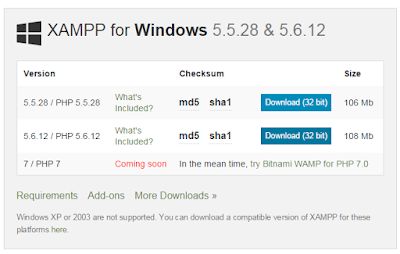 download xampp for windows