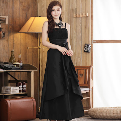 Model Long Evening Dress Korea Untuk Acara Formal