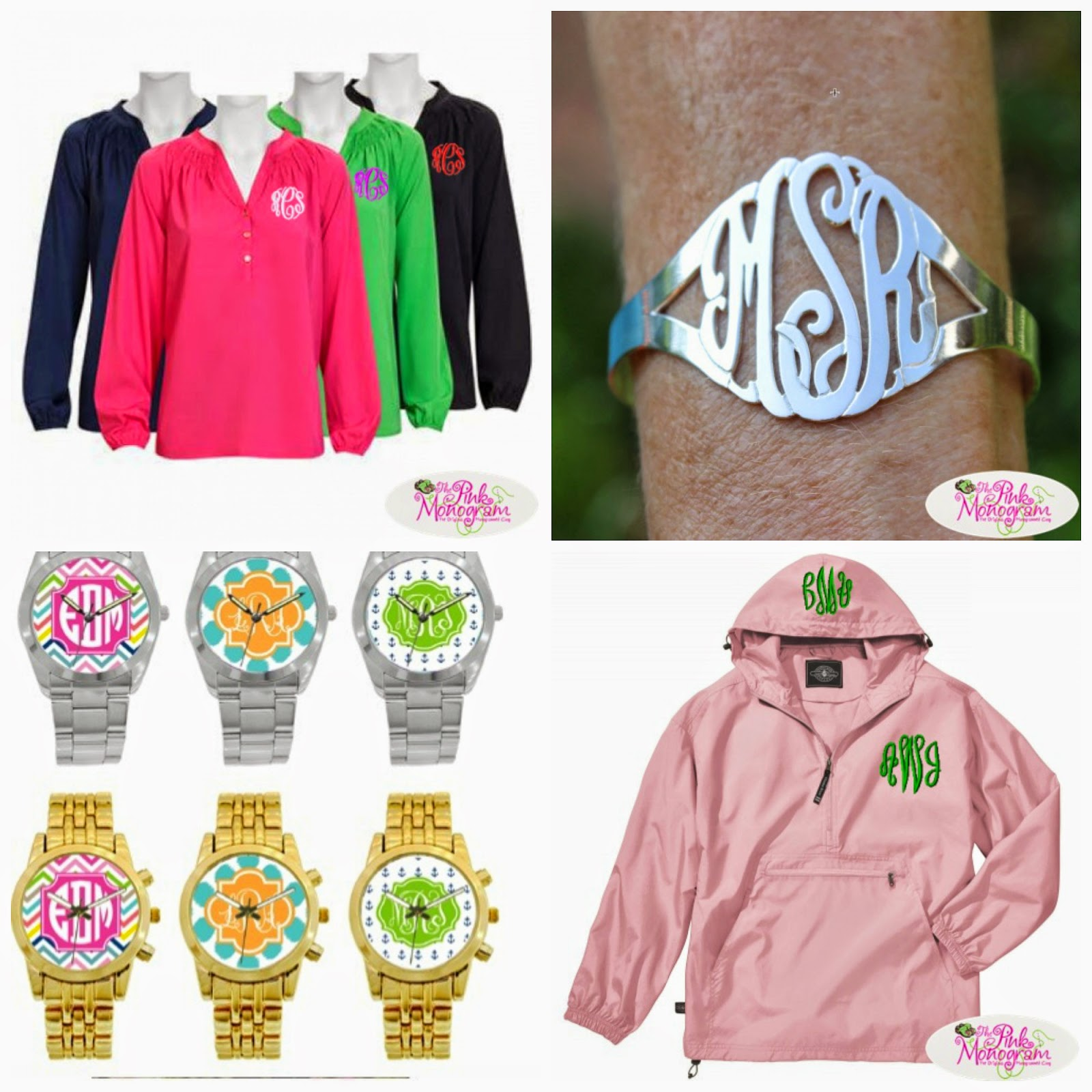 personalized gifts at the pink monogram monogrammed