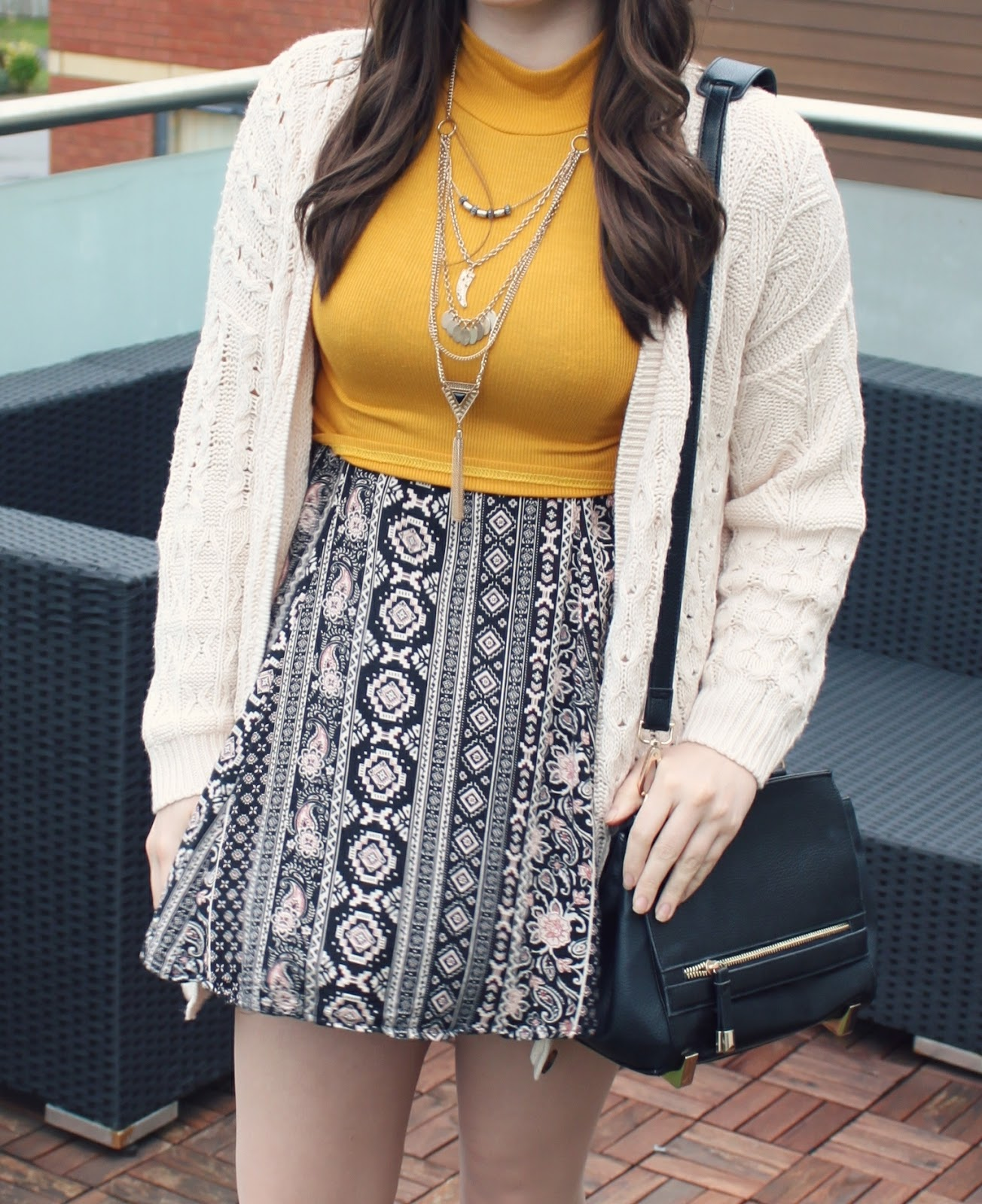 bohemian-style-aztec-dress-and-yellow-crop-top