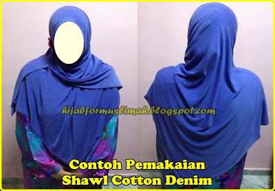 shawl labuh cotton denim