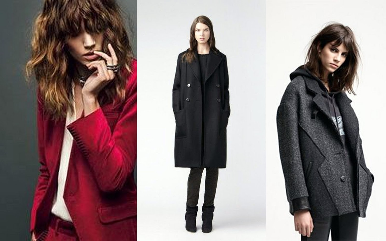 Zadig and Voltaire Freja, Gereard darel, Maje fall 13 lookbook, Maje coat, velvet jacket, black pointy boots