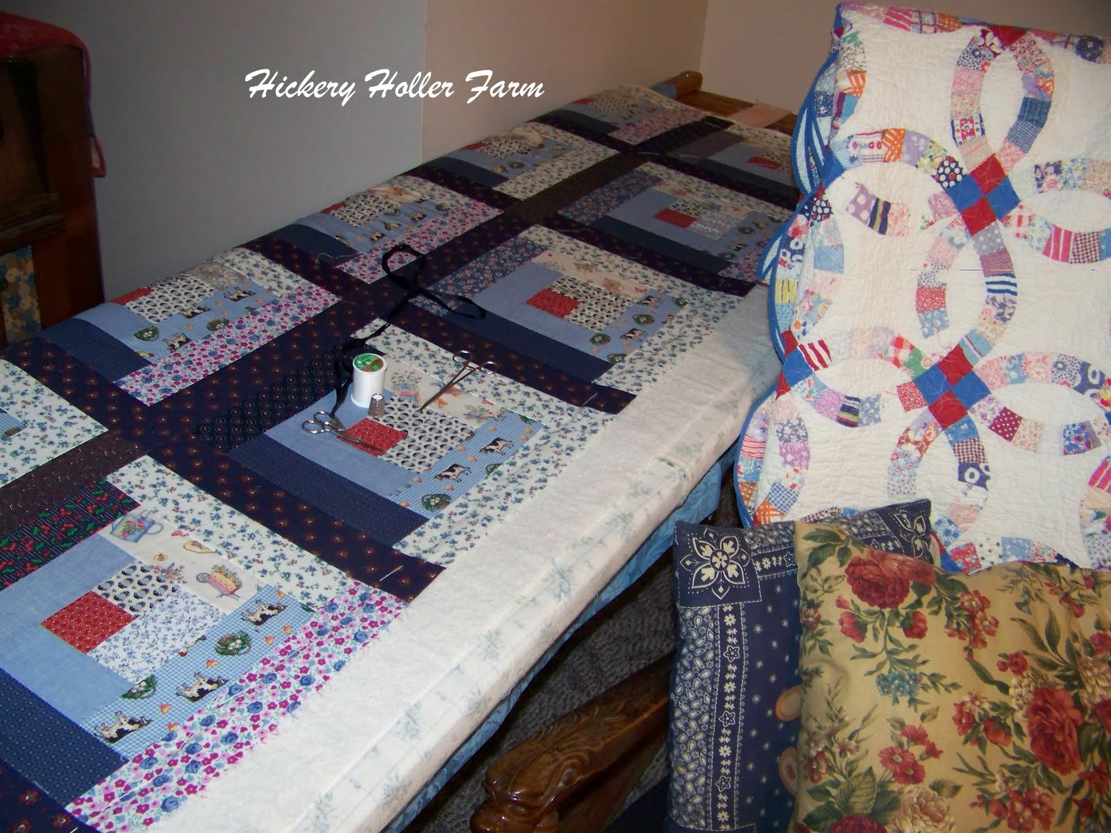 Hickery holler farm the quilt gallery for Floor quilt frame