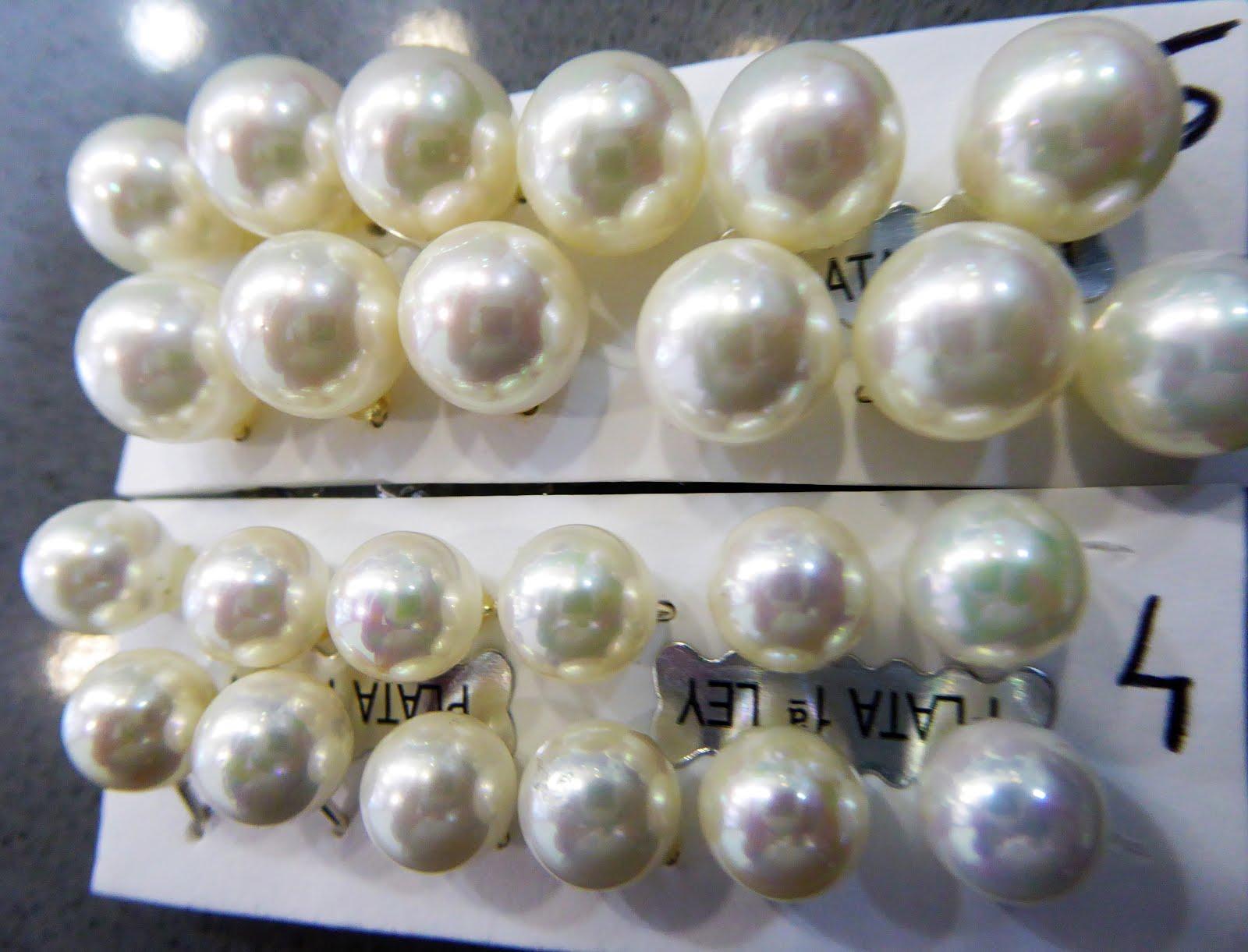 Pendientes de perla de plata
