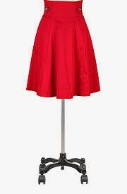 Gold buttoned high waist skirt